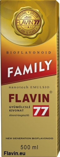 Flavin77 Family szirup (500ml)  - 29750 Ft
