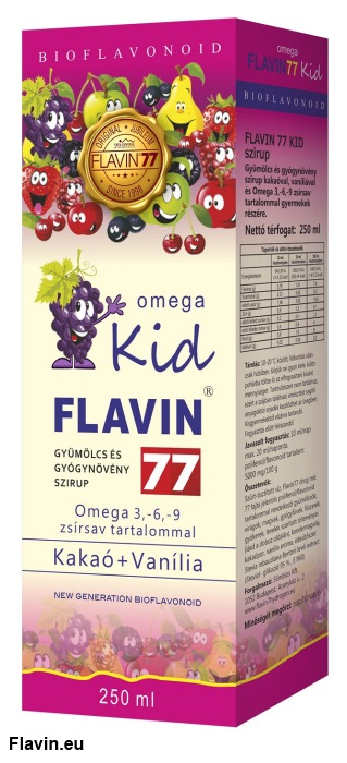 Flavin77 Omega Kid szirup - Pink (250ml)  - 13100 Ft