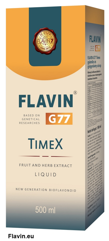 Flavin G77 TimeX szirup (500ml)  - 27400 Ft